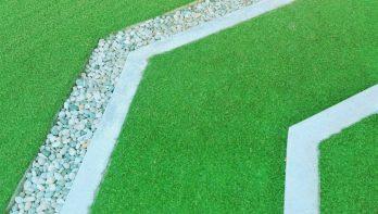 Basisvormen voor een tuinontwerp, diagonaal