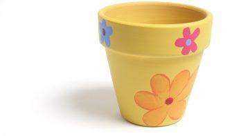 Decoratieve bloempotten maken