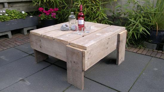 DIY tuinmeubelen maken van steigerhout