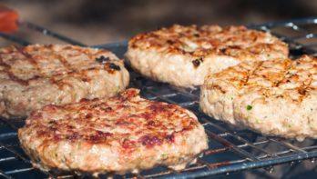 Home made BBQ burgers