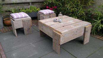 Tuinmeubelen maken van steigerhout