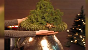 DIY glamoureuze mini kerstboom